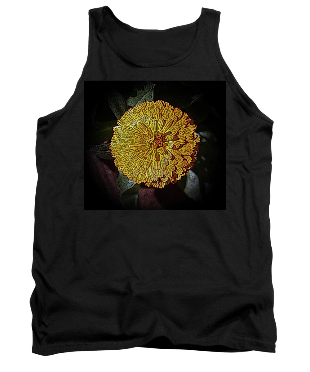 Marigold Tank Top featuring the photograph Marigold Digitized by Louise Mingua
