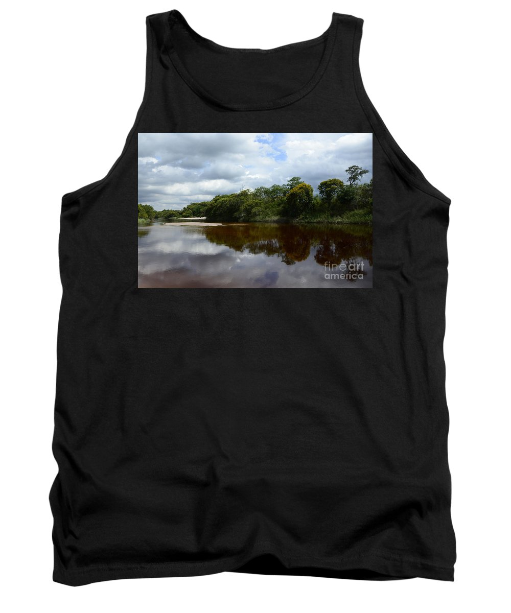 Beauty Beauty Of Reflections Tank Top featuring the photograph Marimbus River Brazil Reflections 4 by Bob Christopher