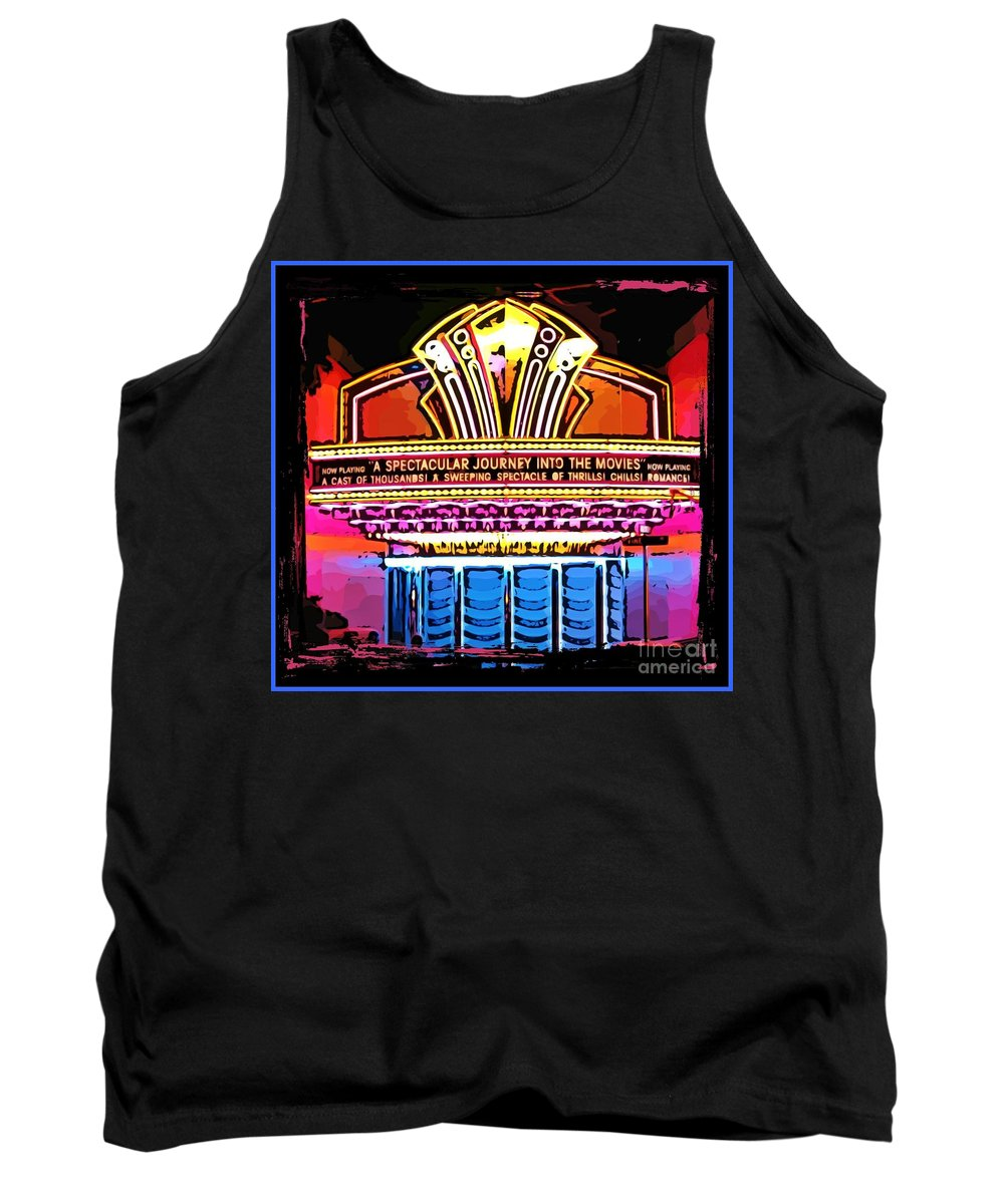 Marquee Tank Top featuring the photograph Marquee by John Malone