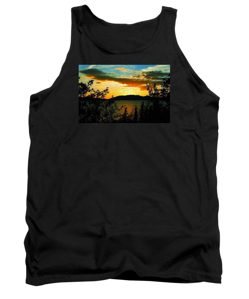 North America Tank Top featuring the photograph Marsh Lake - Yukon by Juergen Weiss