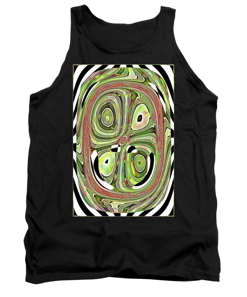 Abstract Tank Top featuring the digital art Mask 10 Curled Up by Jack Bowman