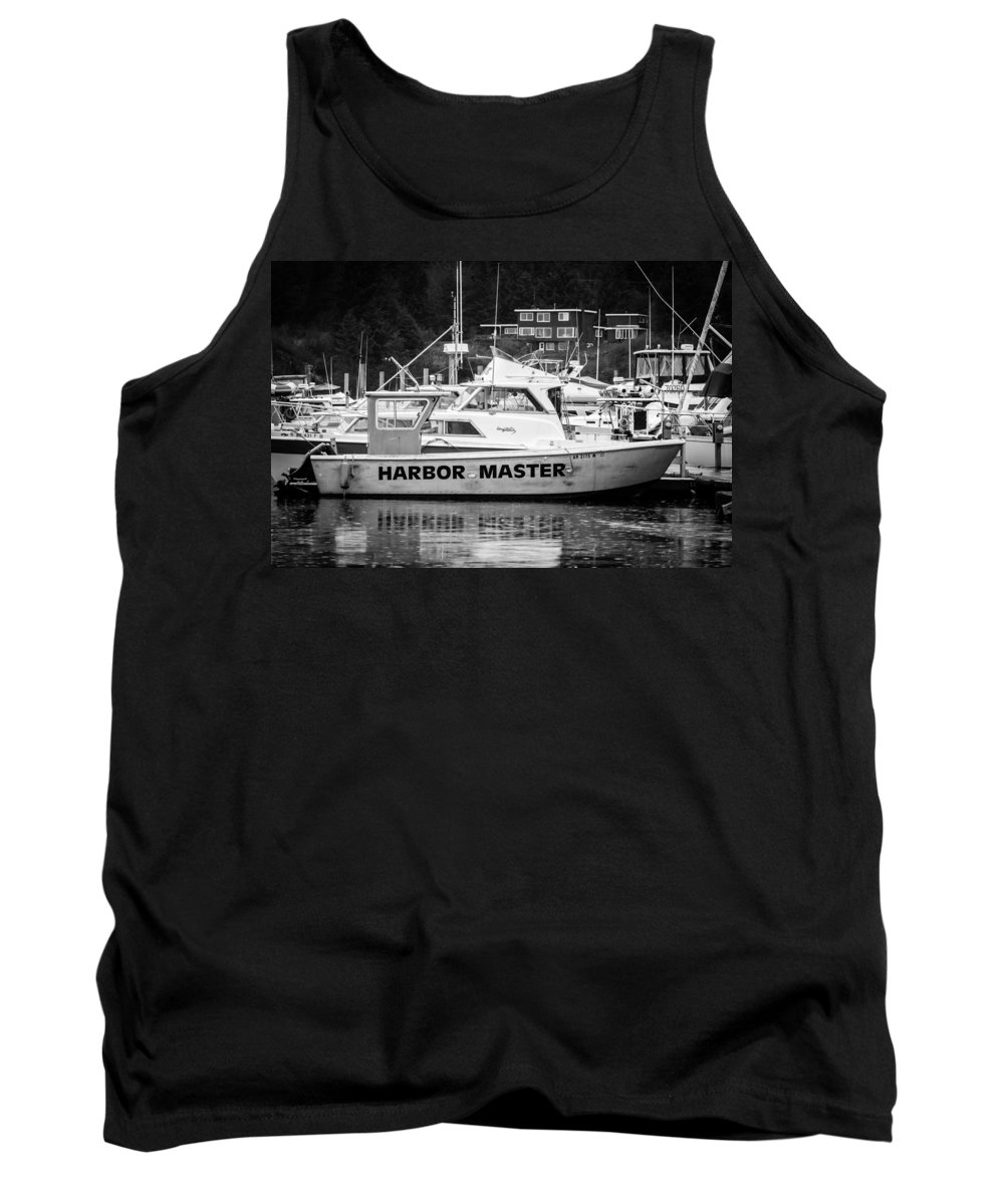 Transportation Tank Top featuring the photograph Master Of The Harbor by Melinda Ledsome