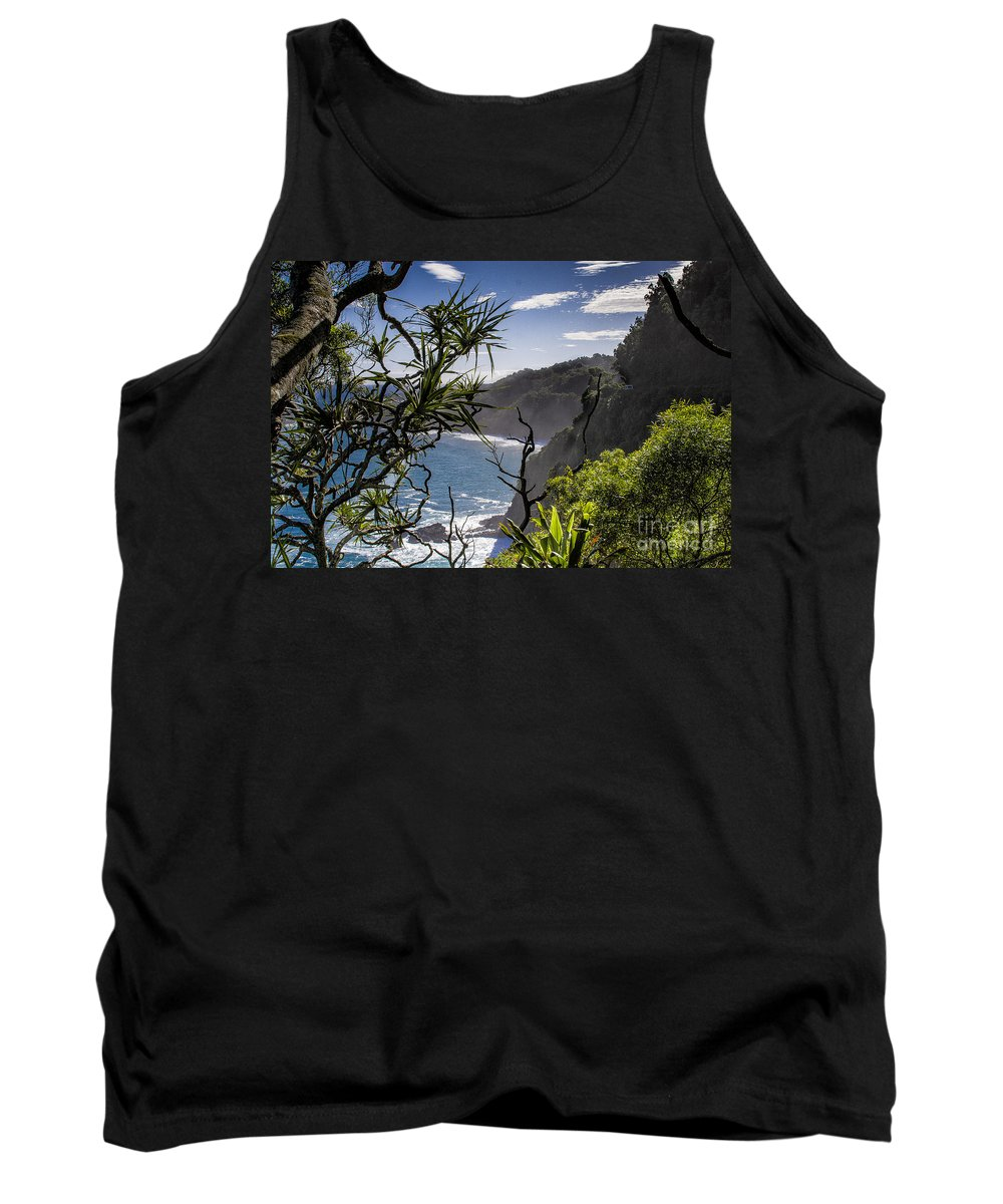 Nature Tank Top featuring the photograph Maui North Shore by Ronald Lutz