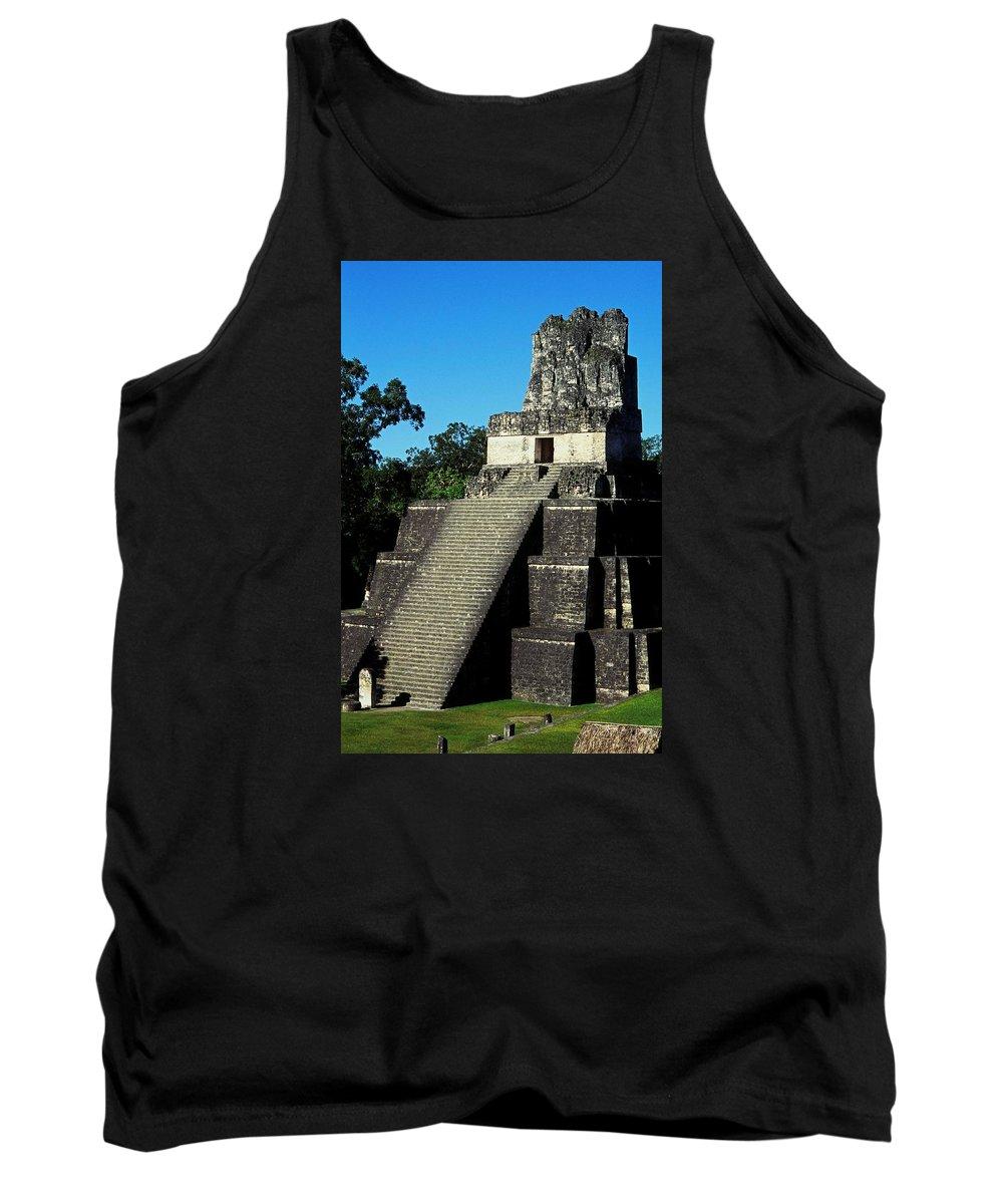 Guatemala Tank Top featuring the photograph Mayan Ruins - Tikal Guatemala by Juergen Weiss