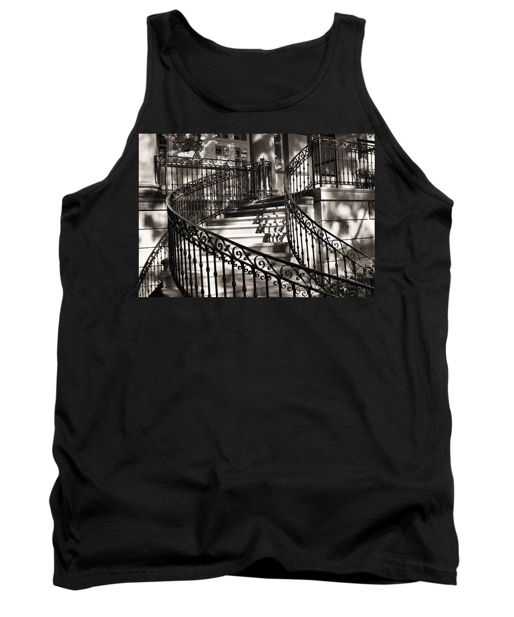 Mccormick Mansion Staircase Tank Top featuring the photograph Mccormick Mansion Staircase by Ely Arsha