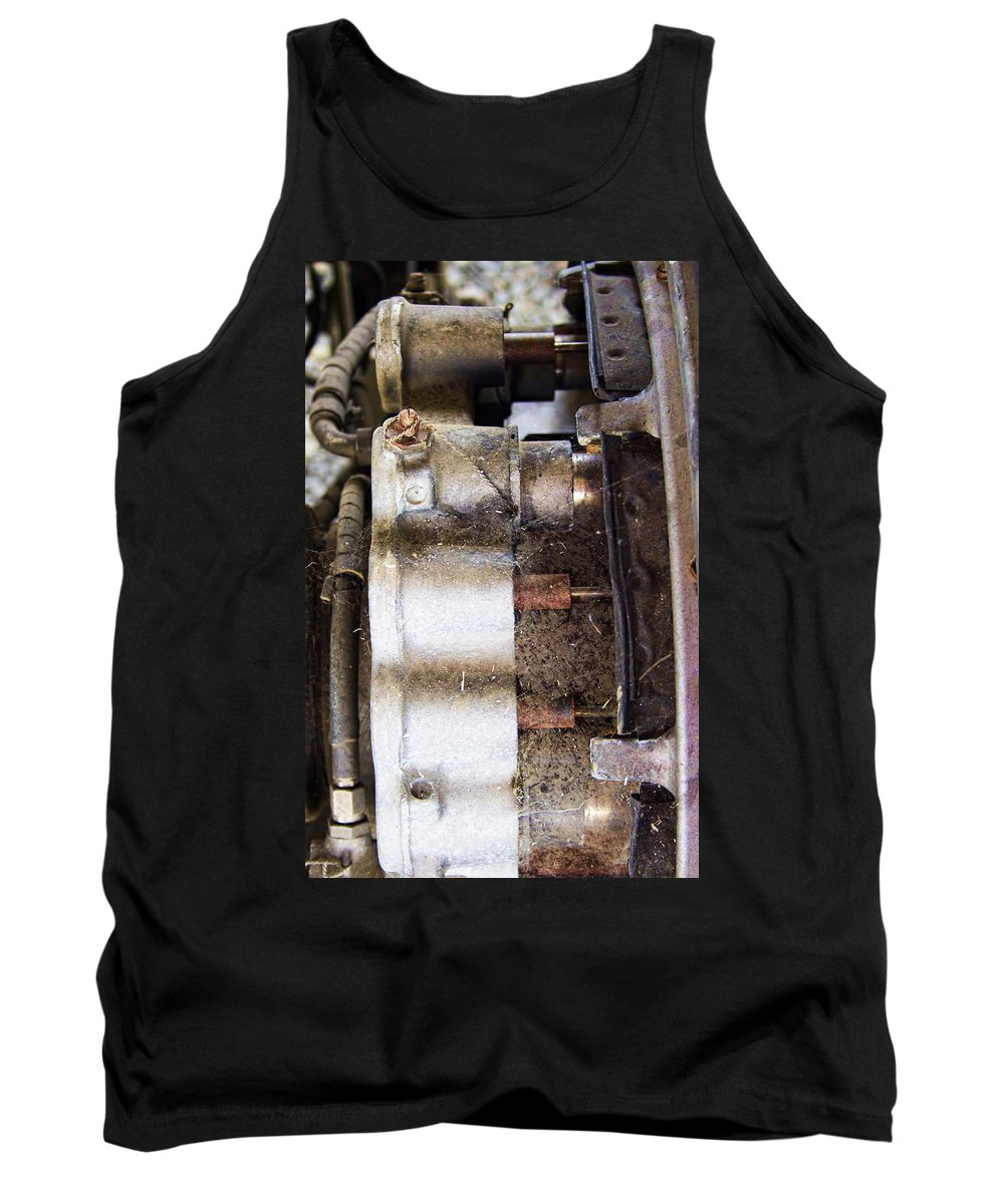 Tank Top featuring the photograph Mechanical Of An Airplane by Cathy Anderson