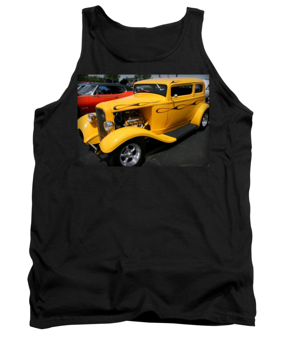 Hot Rod Tank Top featuring the photograph Mello Yellow Rod by Kay Novy