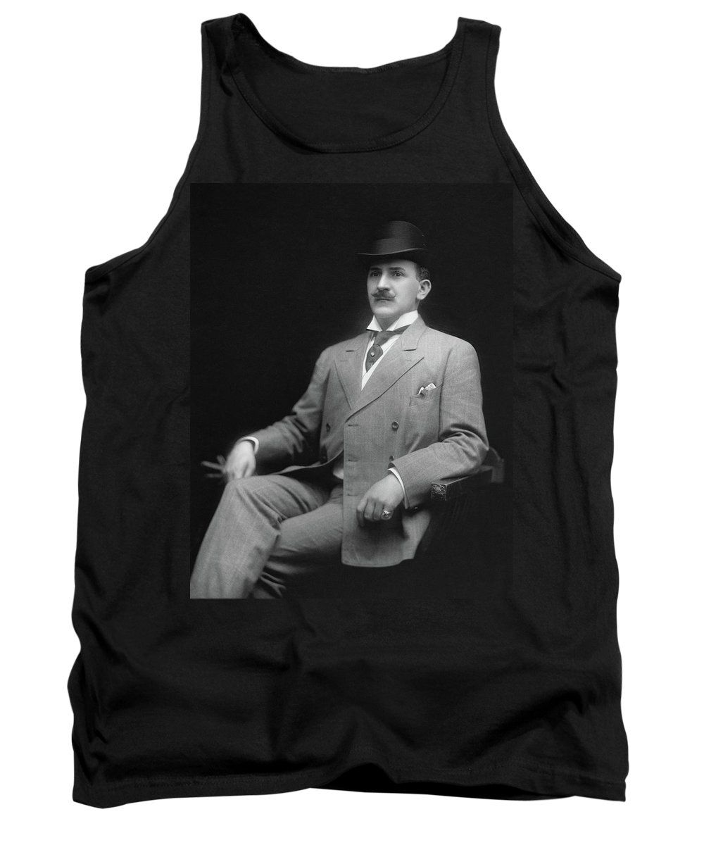 1905 Tank Top featuring the photograph Men's Fashion, C1905 by Granger