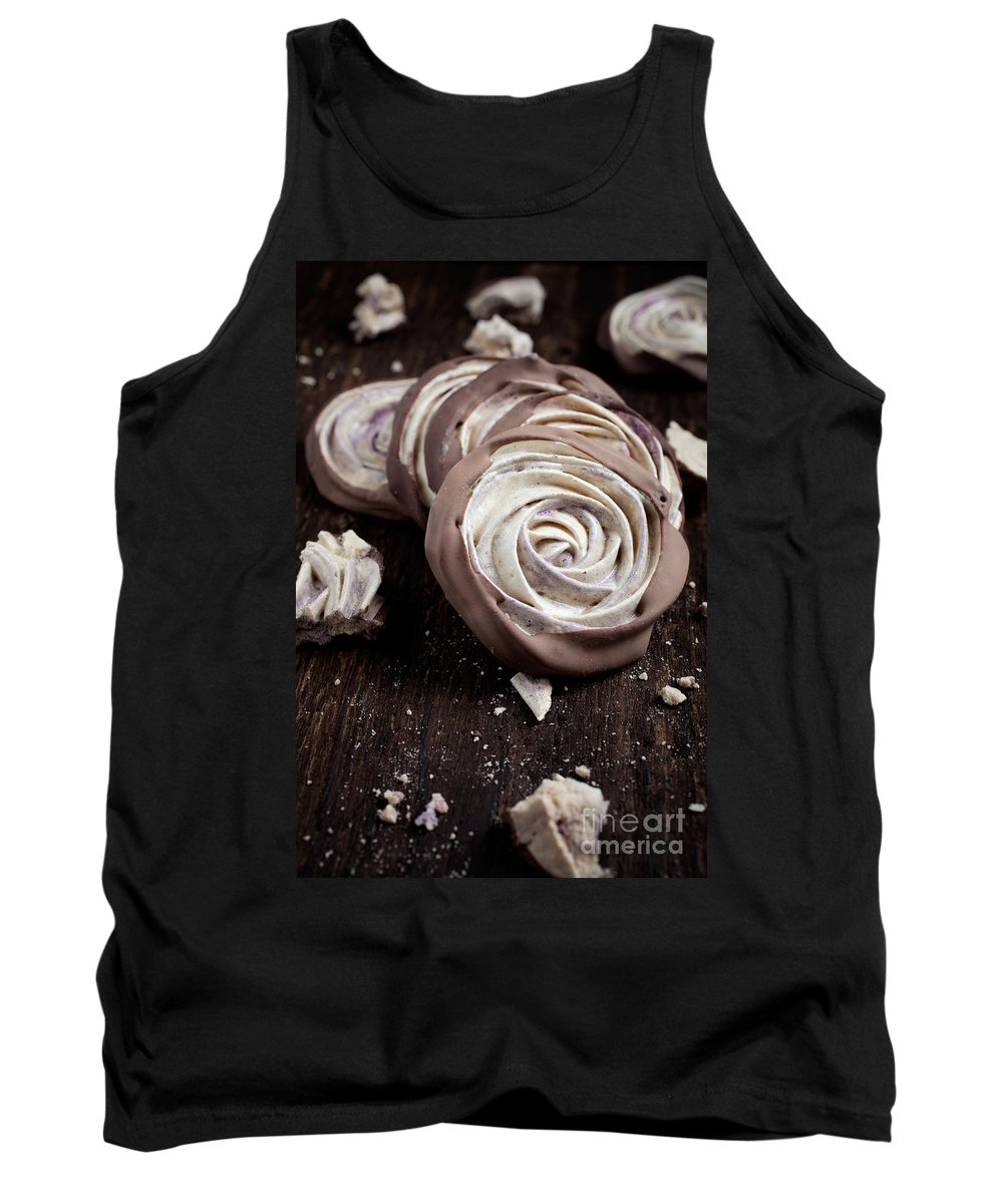 Rose Tank Top featuring the photograph Meringue Rose by Kati Finell
