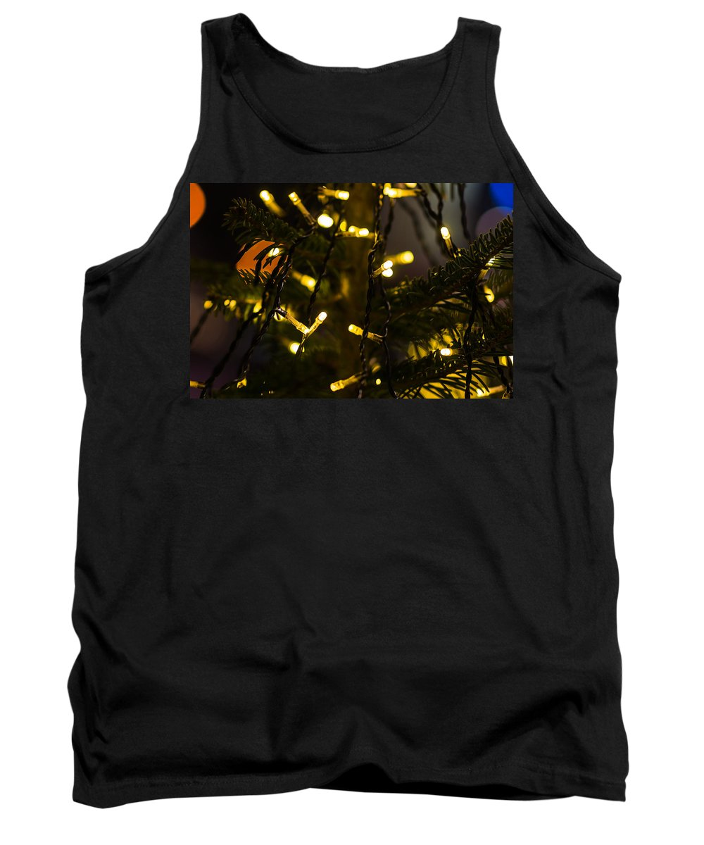 Backdrop Tank Top featuring the photograph Merry Christmas 4 by Alexander Senin