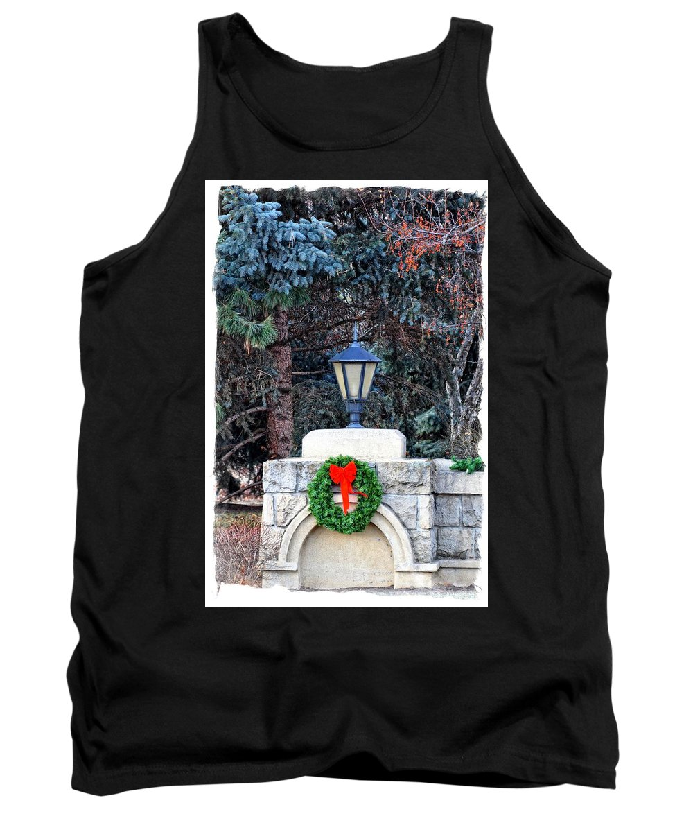 Boise Tank Top featuring the photograph Merry Christmas From Boise Idaho by Image Takers Photography LLC - Laura Morgan