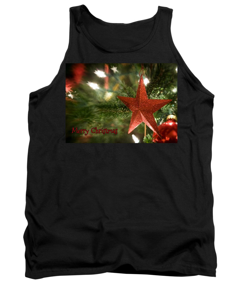 Christmas Tank Top featuring the photograph Merry Christmas by Joye Ardyn Durham