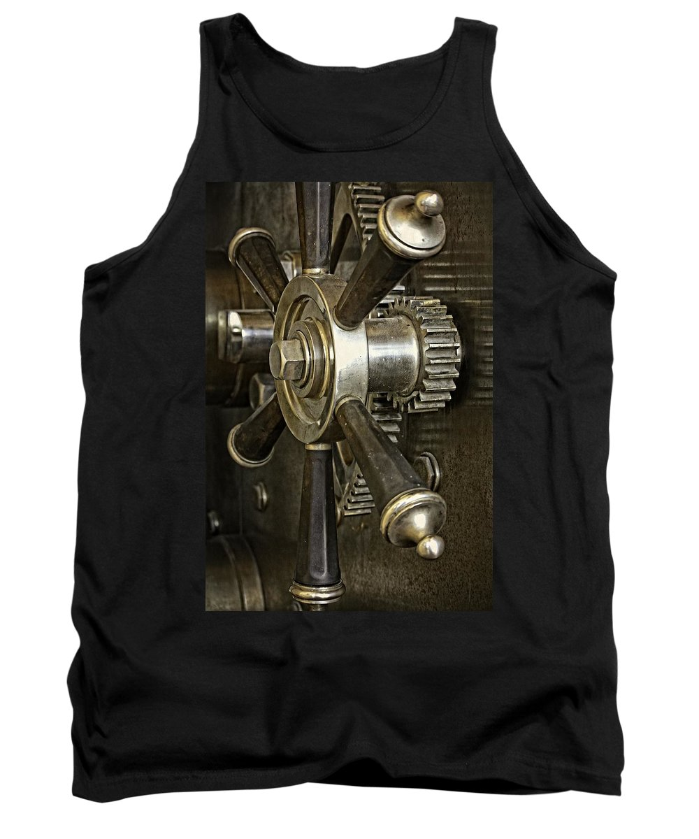 Butte Tank Top featuring the photograph Metals Bank Door by Image Takers Photography LLC - Carol Haddon