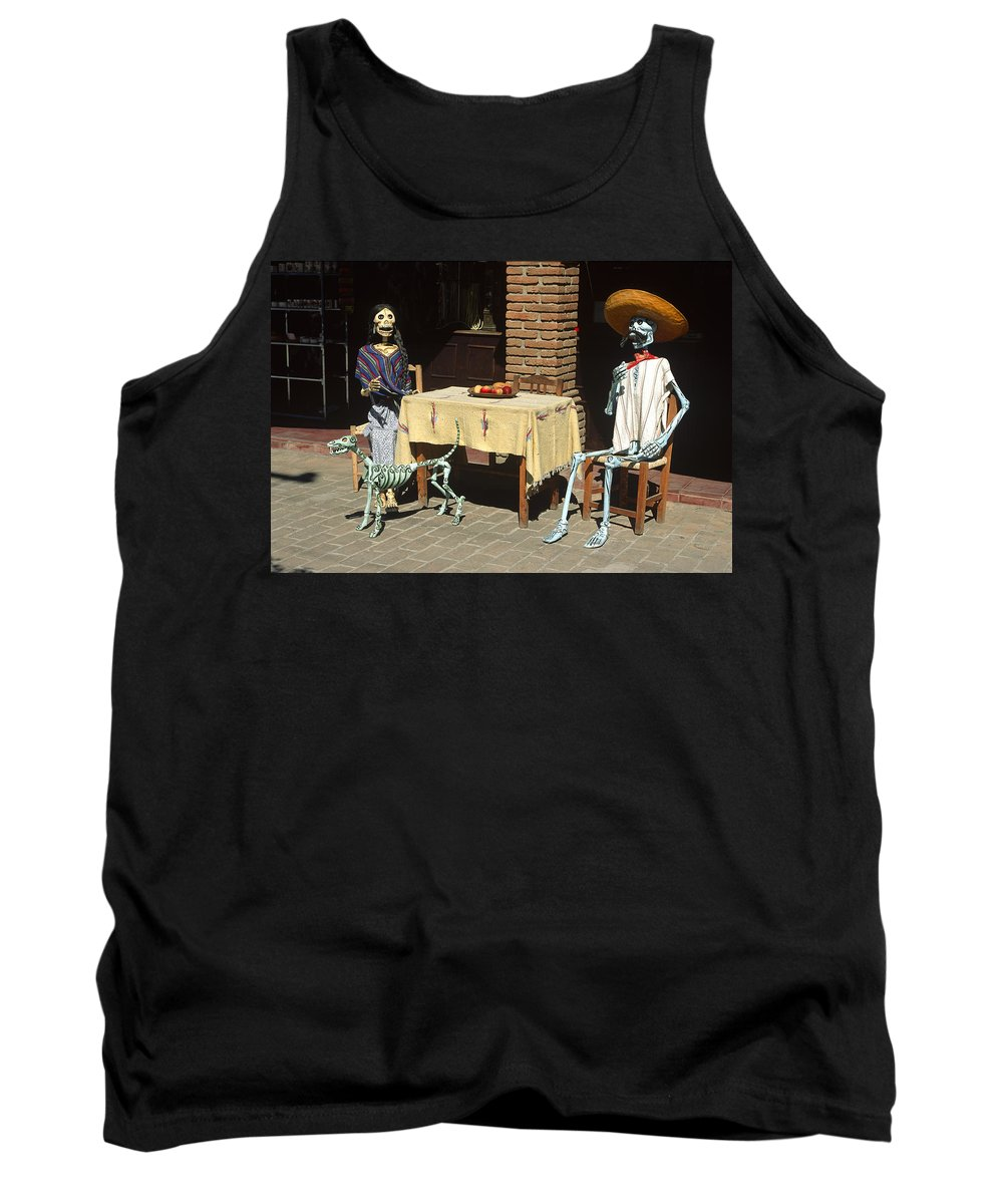 Americas Tank Top featuring the photograph Mexican Antique Family by Roderick Bley