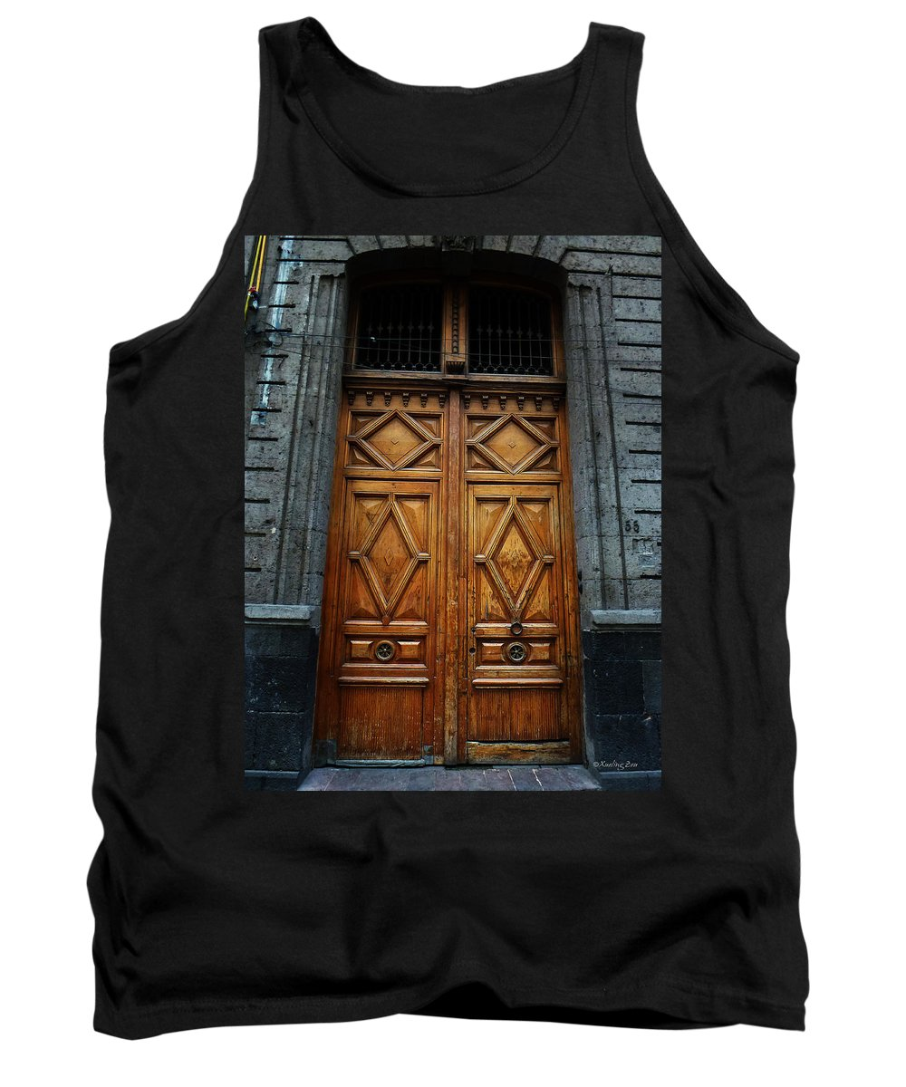 Mexico Tank Top featuring the photograph Mexican Door 68 by Xueling Zou