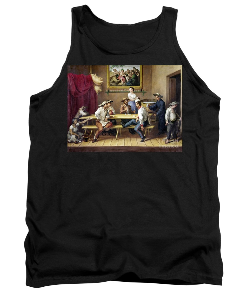 19th Century Tank Top featuring the photograph Mexico: Bar Scene by Granger