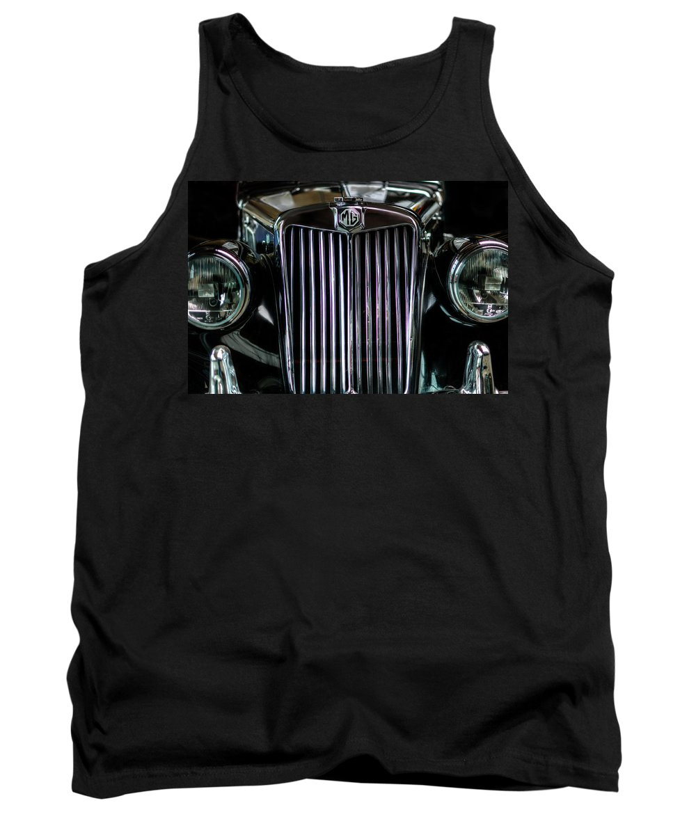Retro Tank Top featuring the digital art MG by Nathan Wright