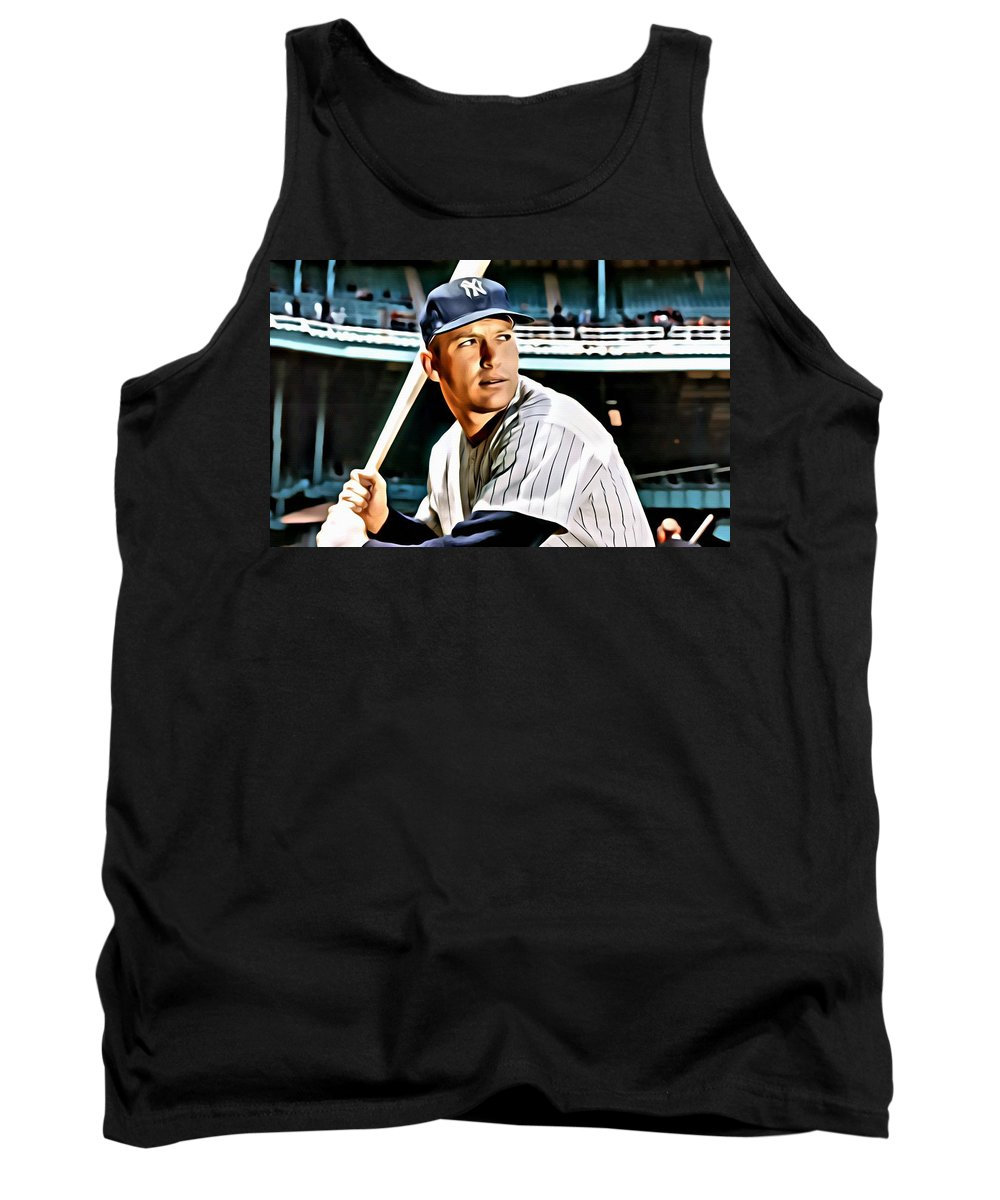 Mlb Tank Top featuring the painting Mickey Mantle by Florian Rodarte