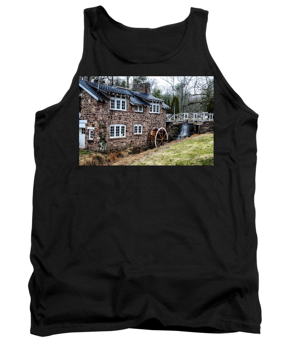 Mill Tank Top featuring the photograph Mill Along The Delaware River In West Trenton by Bill Cannon