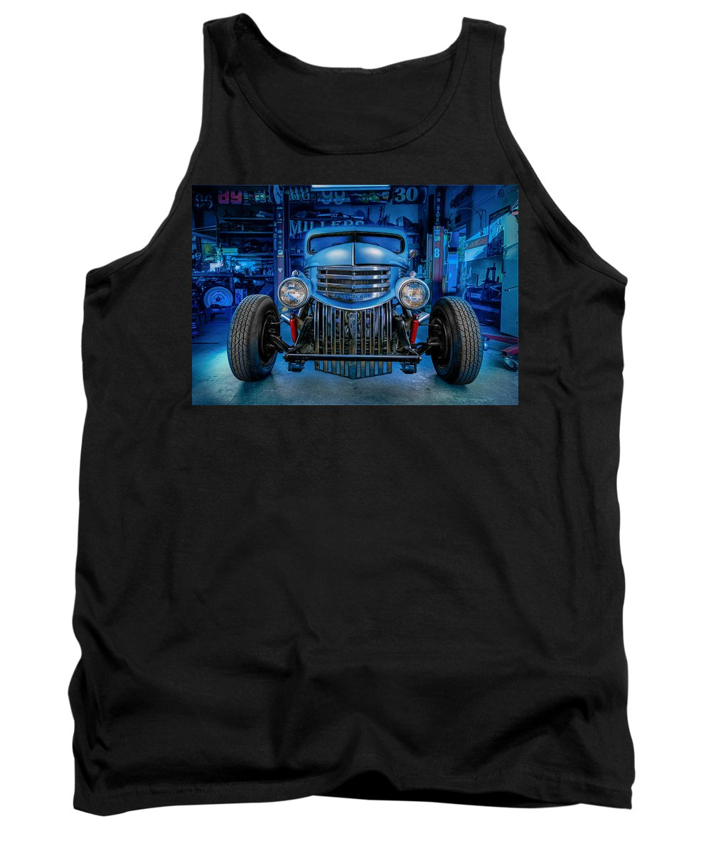 Antique Tank Top featuring the photograph Millers Chop Shop 1946 Chevy Truck by Yo Pedro