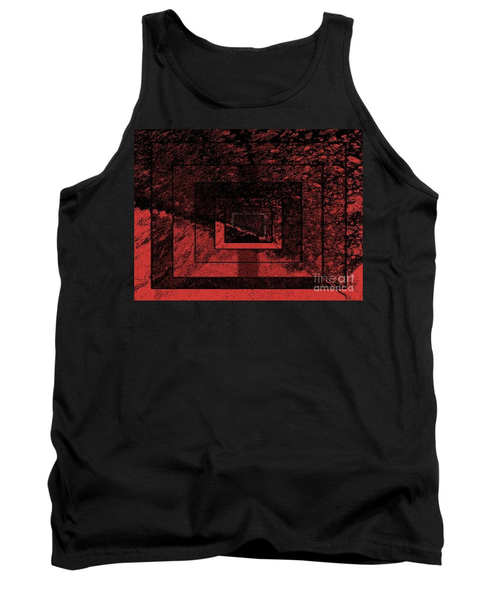 Abstract Tank Top featuring the digital art Mindset by Fei A