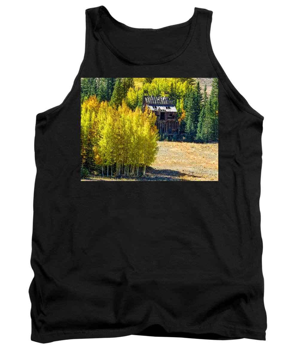 Colorado Tank Top featuring the photograph Mine Shack In Aspens by Dawn Key