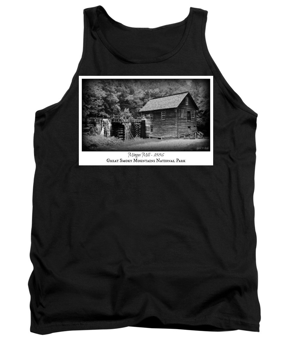 Mingus Mill Tank Top featuring the photograph Mingus Mill -- Black And White Poster by Stephen Stookey