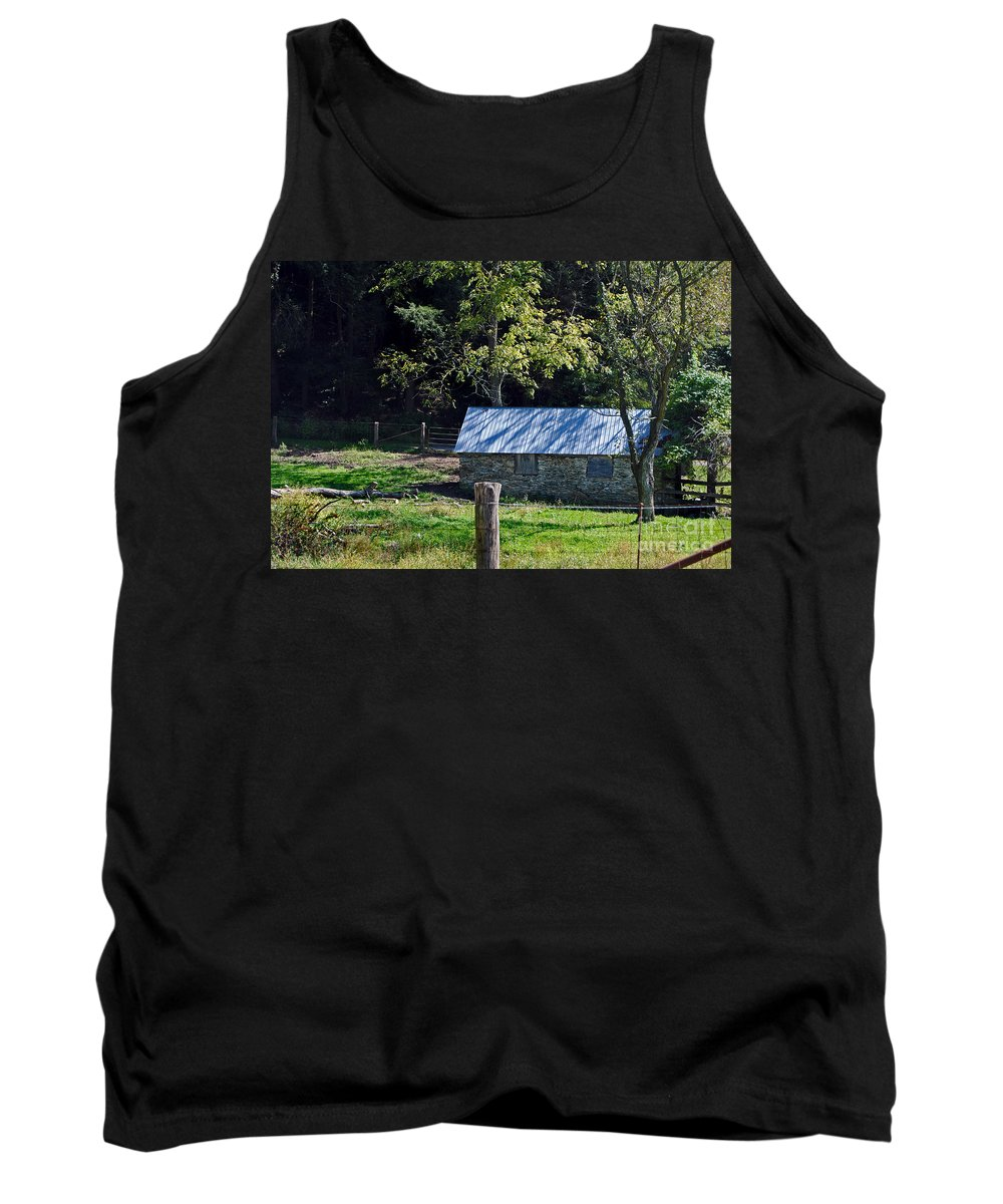 Scenic Tours Tank Top featuring the photograph Mini Pasture by Skip Willits