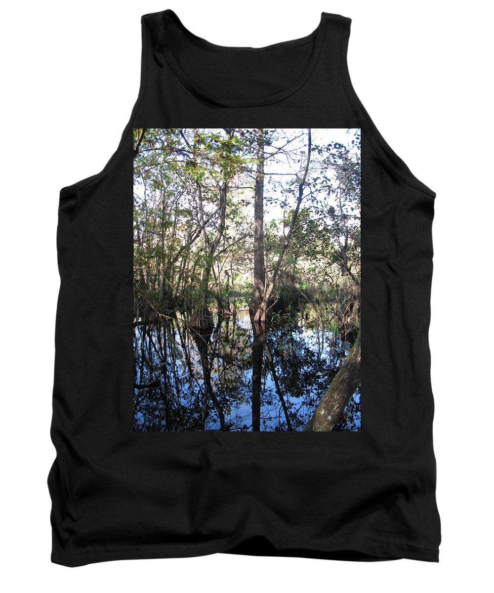 Swamp Tank Top featuring the photograph Mirroring The Swamp by Christiane Schulze Art And Photography