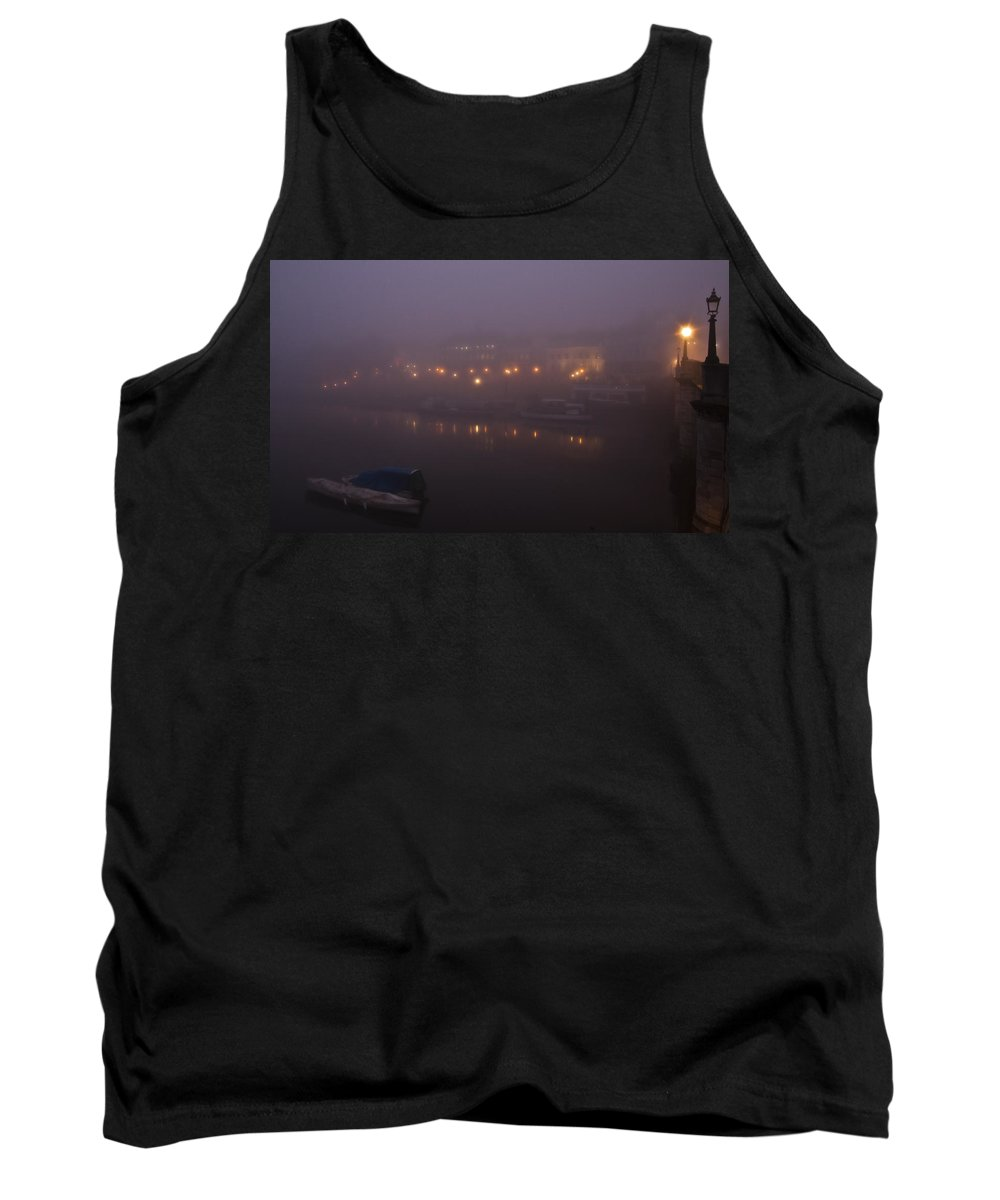 Richmond Tank Top featuring the photograph Misty Richmond Upon Thames by Maj Seda
