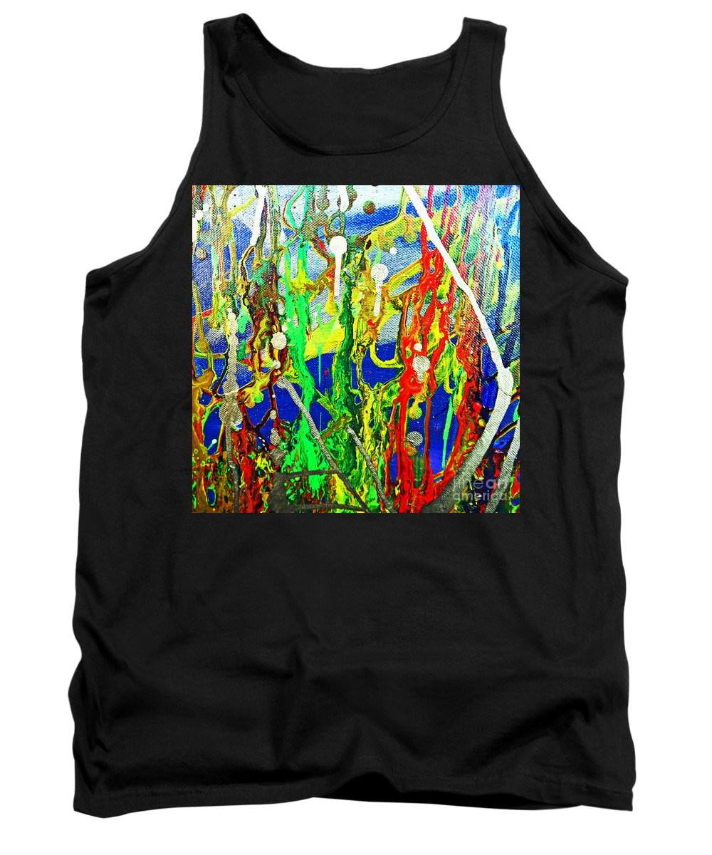 Amber Tank Top featuring the painting Mixed Up by Kusum Vij