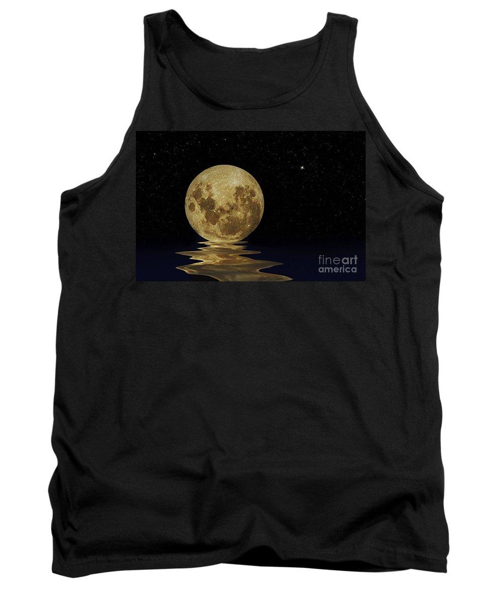 Molten Moon Tank Top featuring the photograph Molten Moon by Kaye Menner