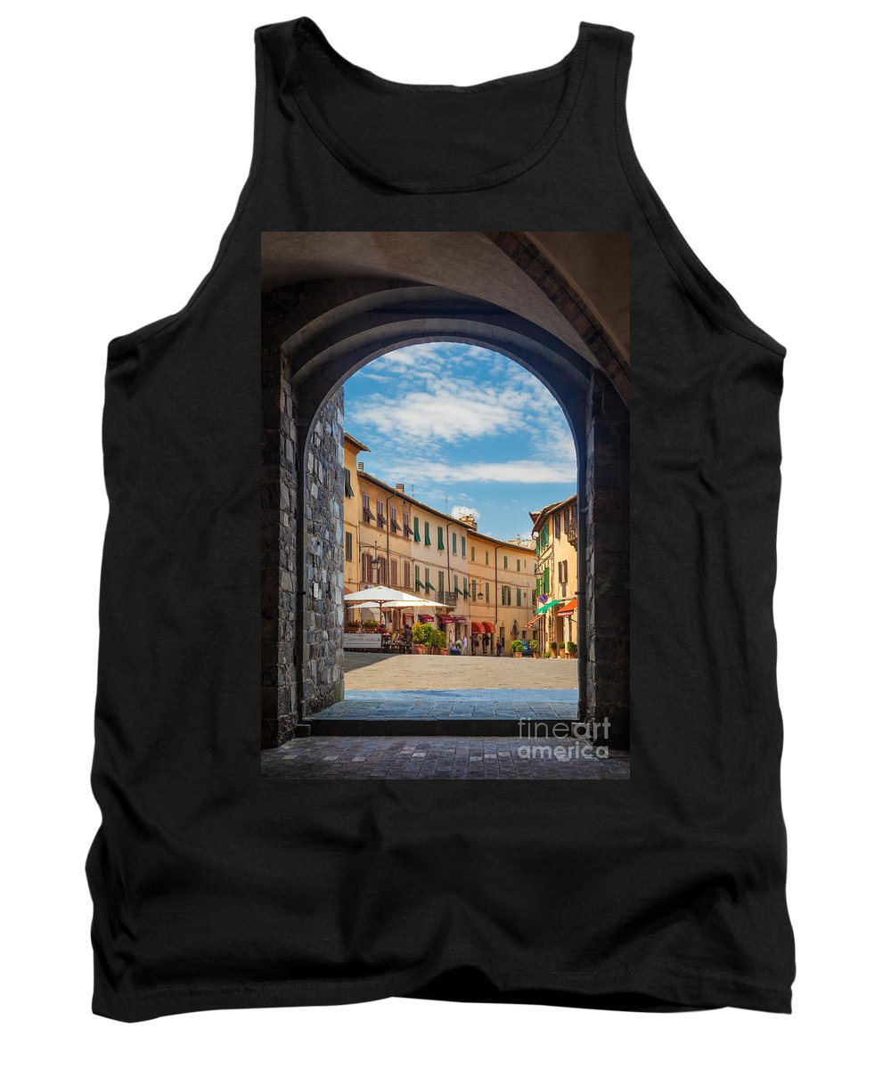 Europe Tank Top featuring the photograph Montalcino Loggia by Inge Johnsson