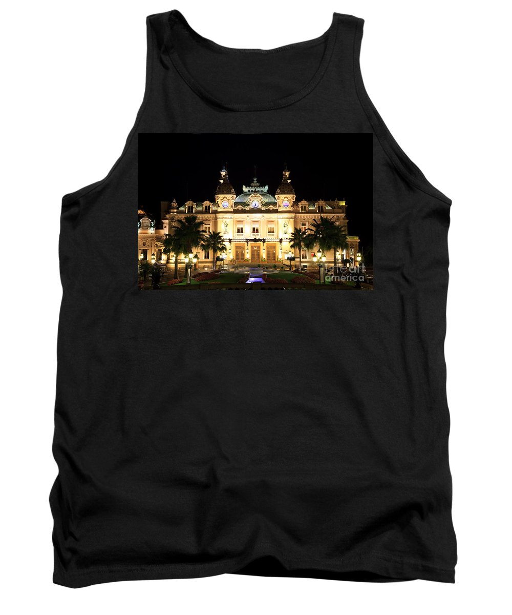 Illuminated Tank Top featuring the photograph Monte Carlo Casino At Night by Matteo Colombo