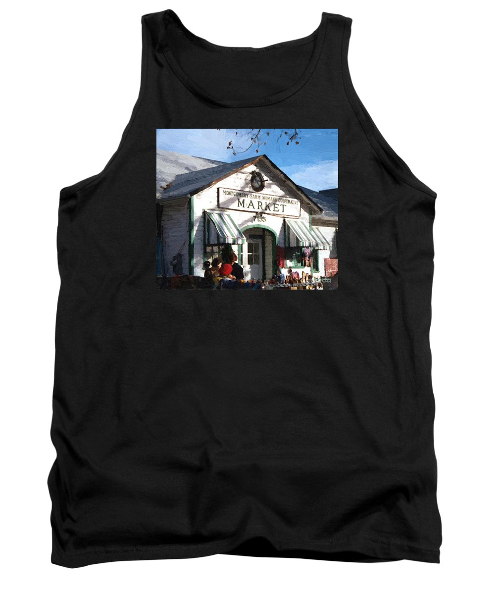 Americana Tank Top featuring the painting Montgomery County Market by RC DeWinter