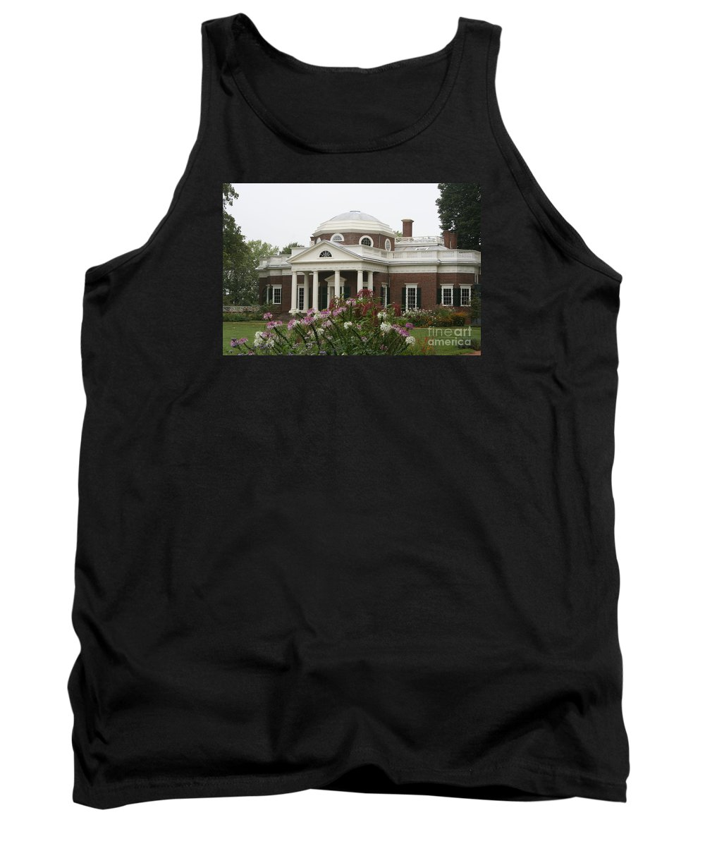 Monticello Tank Top featuring the photograph Monticello Estate by Christiane Schulze Art And Photography