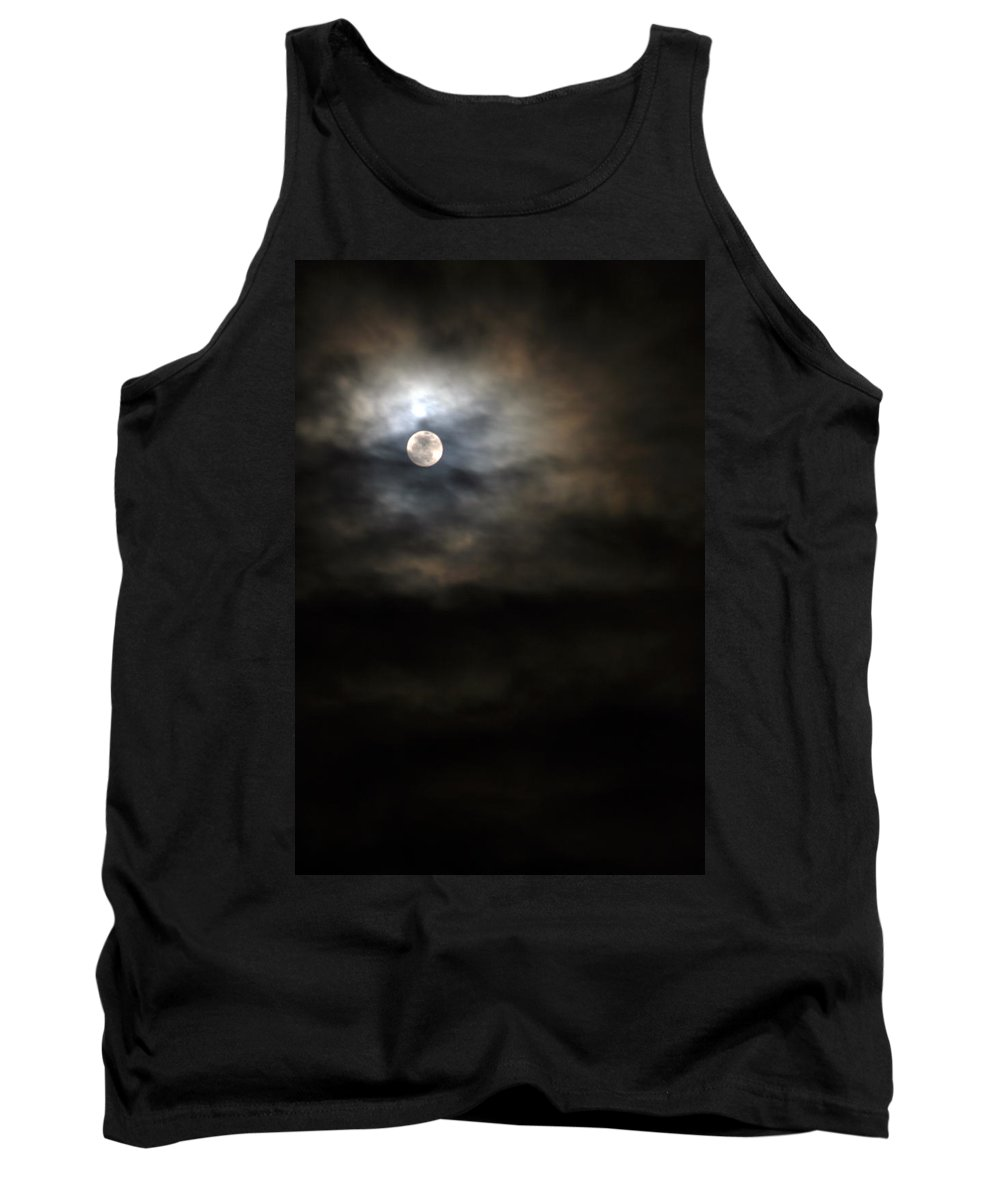 Moonlight Tank Top featuring the photograph Moon 3 by Allan Lovell