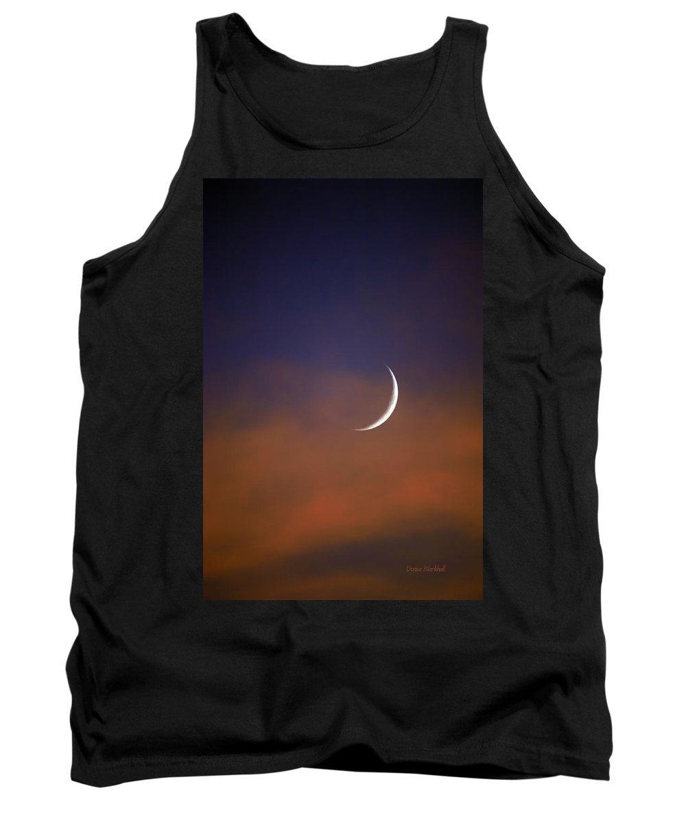 Night Tank Top featuring the photograph Moon Cradle by Donna Blackhall