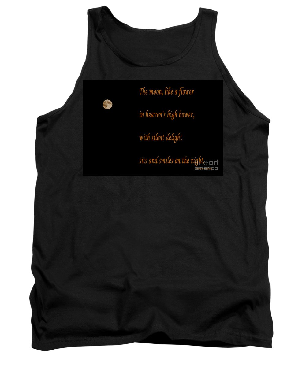 Moon Tank Top featuring the photograph Moon -quote - Poem by Barbara Griffin