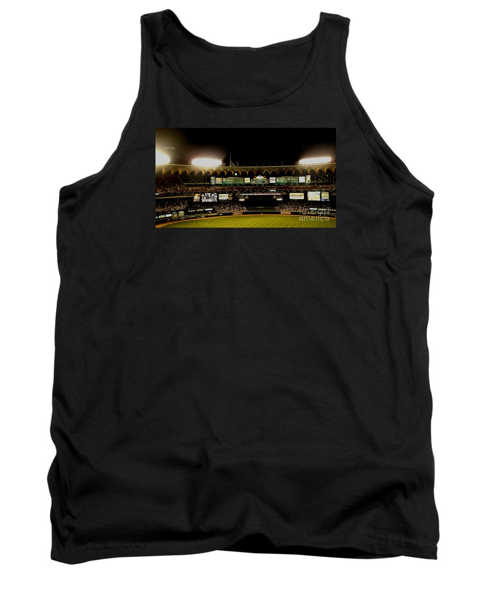 Tank Top featuring the photograph Moon In The Arches Edited 2 by Kelly Awad