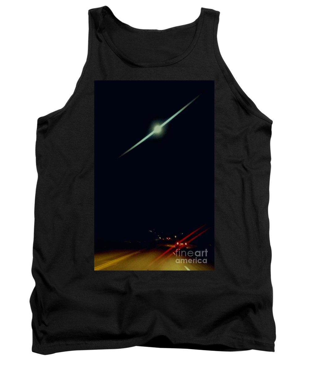 Desert Moon Tank Top featuring the photograph Moondate by Angela J Wright