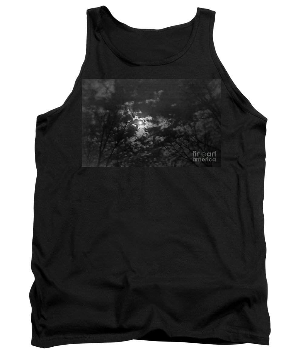 Tank Top featuring the photograph Moonlit Sky by Cheryl Baxter