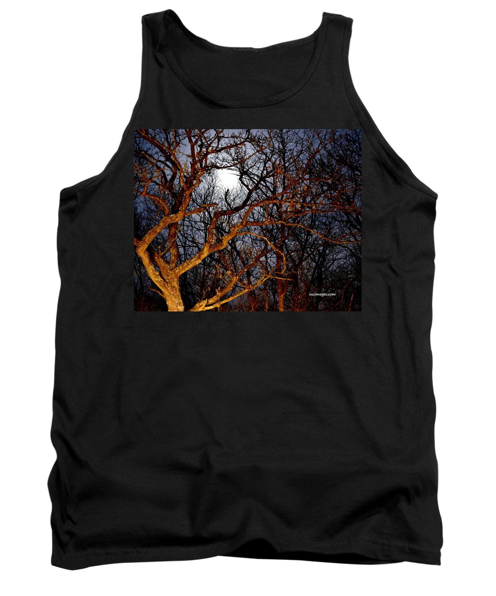 Full Moon Tank Top featuring the photograph Moonshine 3 by Susie Loechler
