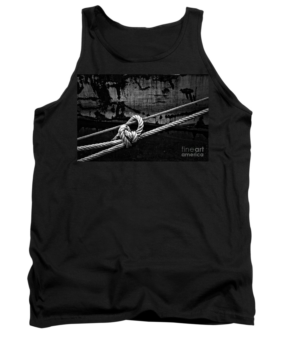 Rope Tank Top featuring the photograph Moored by Brothers Beerens