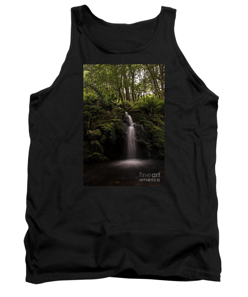 Waterfall Tank Top featuring the photograph Moorland Fall by Jon Somers