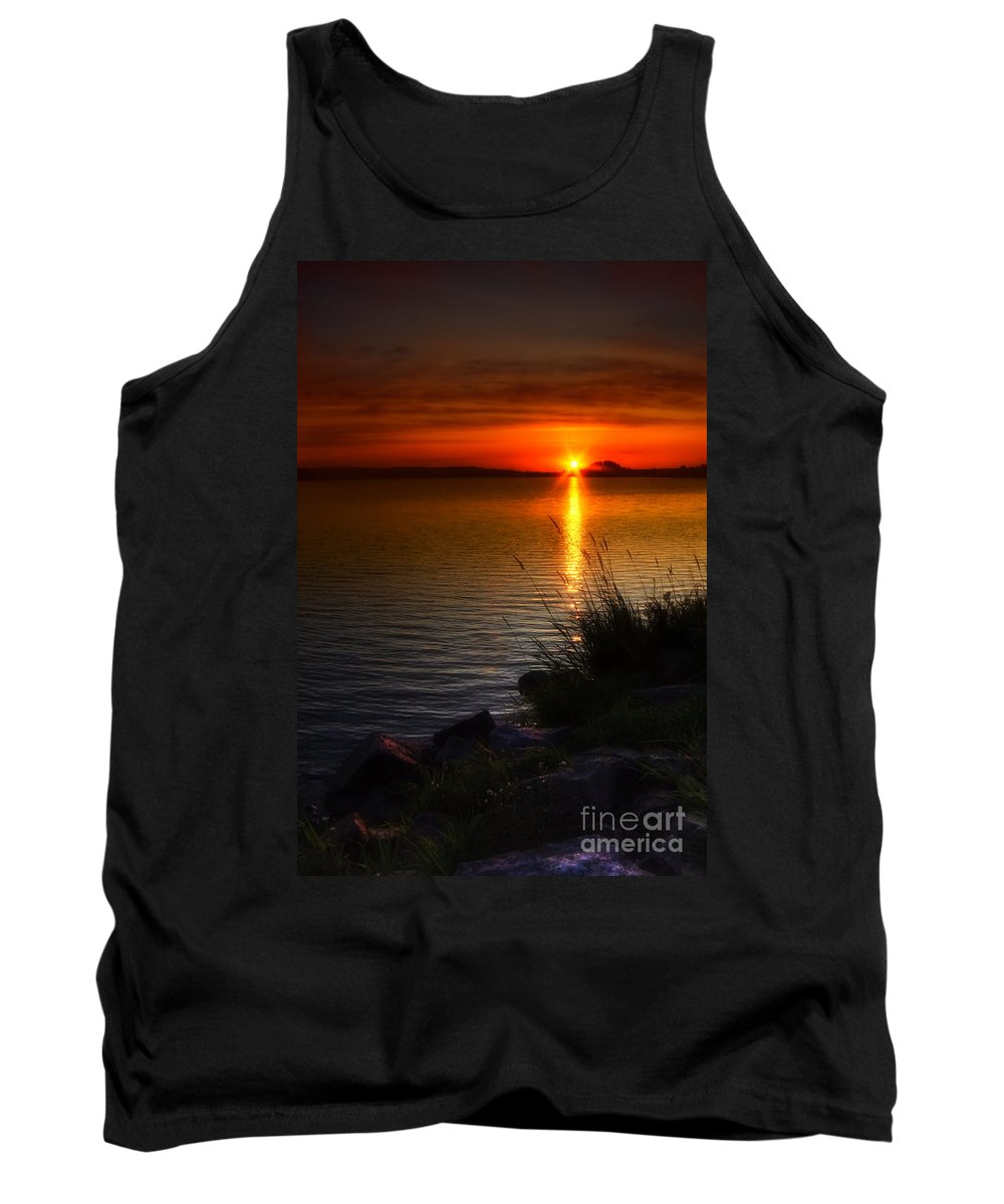 Art Tank Top featuring the photograph Morning By The Shore by Veikko Suikkanen