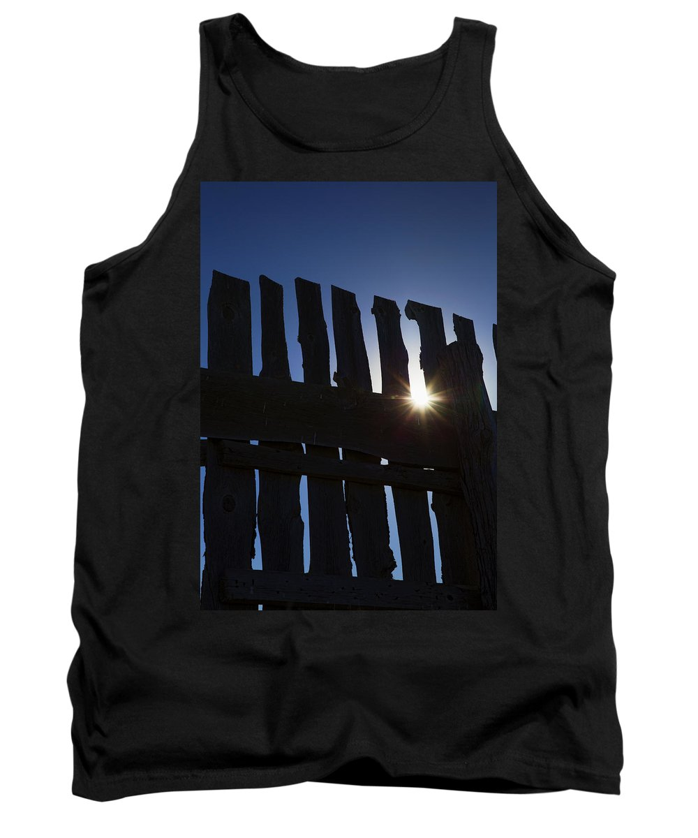 Country Tank Top featuring the photograph Morning Fence by Sylvia Thornton