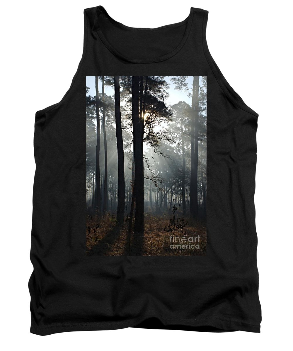 Morning Tank Top featuring the photograph Morning Mist II by Gary Richards