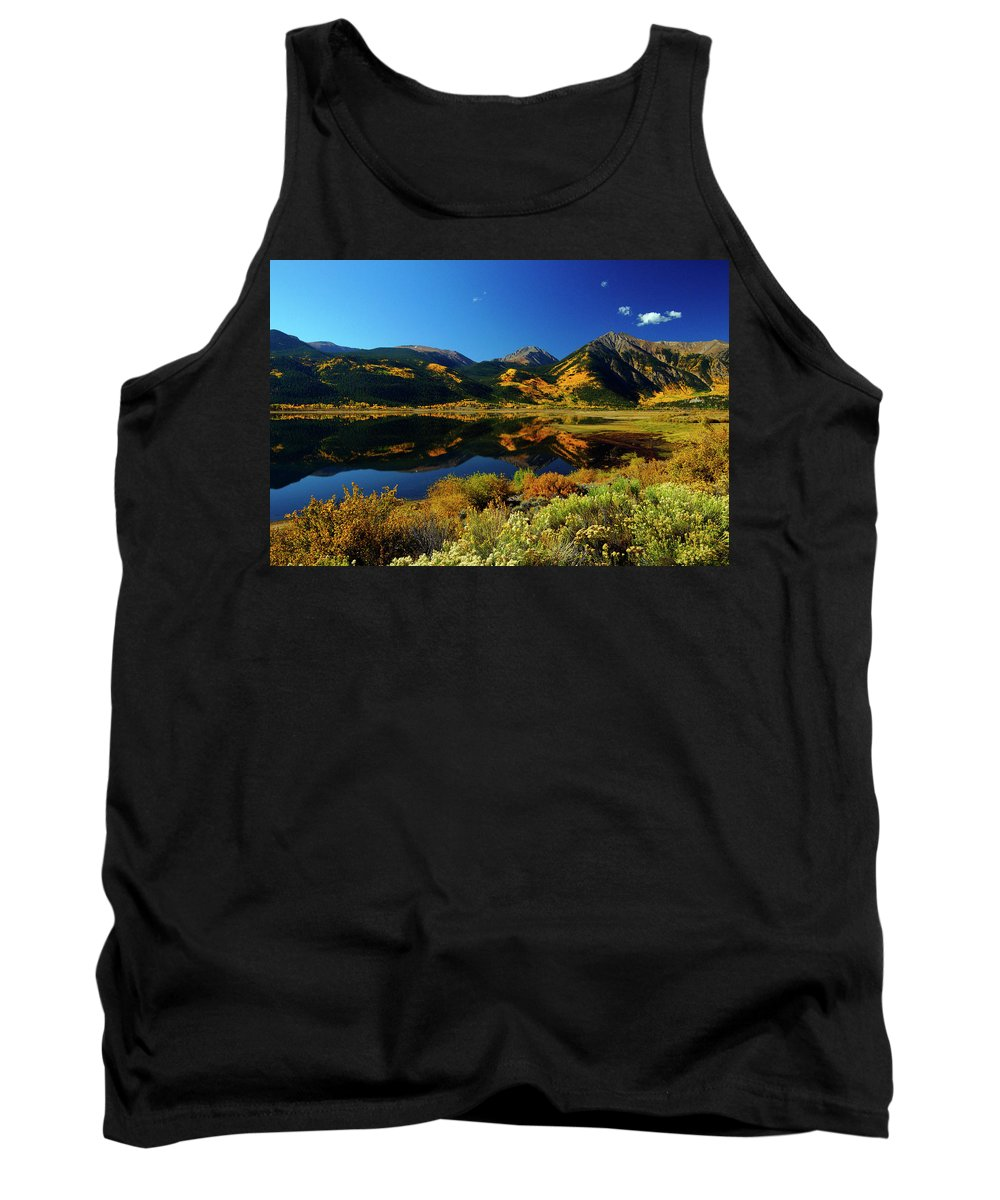 Colorado Tank Top featuring the photograph Morning Reflection by Jeremy Rhoades