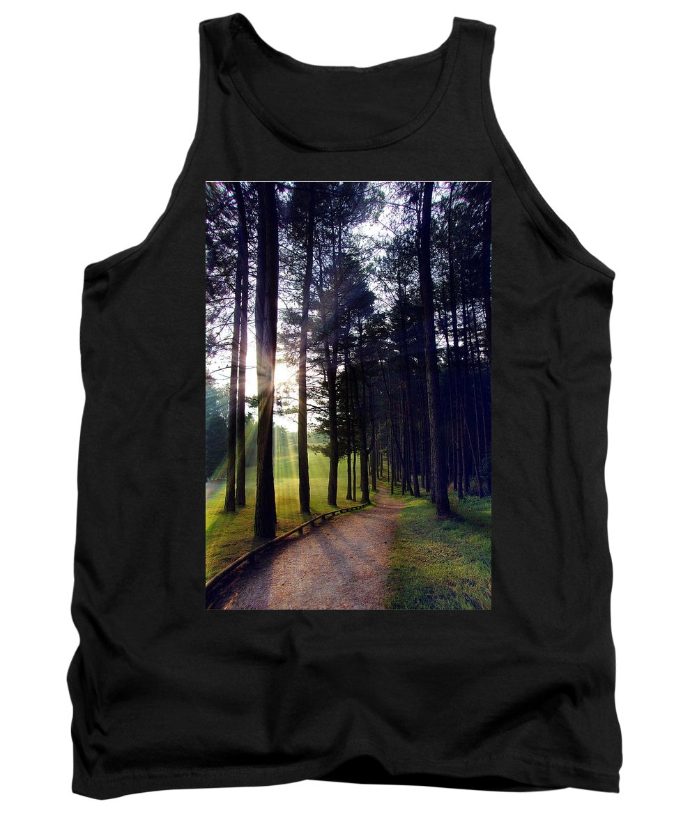 Sunrise Tank Top featuring the photograph Morning Walk by Steve Ondrus